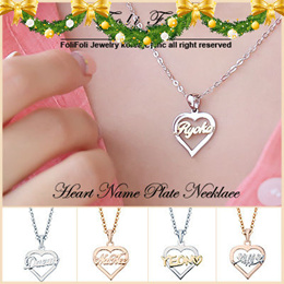 3532da60fb7 ♥New Year GIFT♥ Handcrafted Heart Name Necklace from Korea- Special Carving  Service