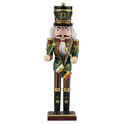 Christmas Drum Decor.Ttlife Wooden Christmas Nutcracker Decor With Trumpet Spear Drum Or Sword Perfect Decoration 12 Inch