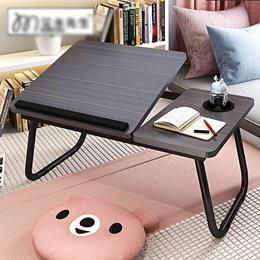 다용도 높이 조절 접이식 테이블/다기능 usb 접이식 테이블(선풍기 눈보호등 증정)/ 컴퓨터 테이블/미니테이블/침대 사이드 테이블/책상 공부상/ 노트북책상/ 밥상/거실용 노트북용