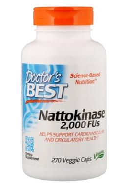 Doctors Best Nattokinase 2000 FUs 270 Veggie Caps