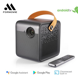 💖READY STOCK💖Formovie Dice DLP Mini Projector 1080P Full HD Home Theater 700ANSI Lumens with 1600