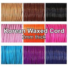 Korean waxed Cord 2mm / Beading strings DIY