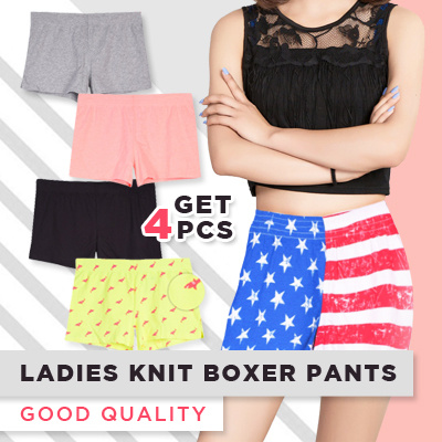 [BUNDLING 4 PCS] Ladies Knit Boxer Pants Deals for only Rp99.000 instead of Rp99.000