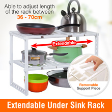 Sink Kitchen Storage Rack Microwave Oven Stand Wok Pot Holder Under Cabinet