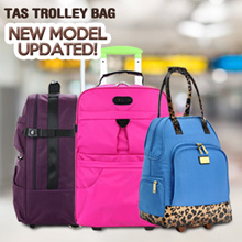 NEW MODEL! Tas Trolley Bag / Travel Bag Dengan Roda / 2 Model /  5 Colour / Best Seller