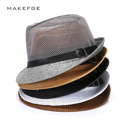 8f06c7ae6ca COUPON · cuban style hats Fashion Mens Summer Jazz Hat Breathable Casual  Floppy Jazz Hat for Men and