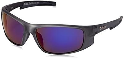 60f31baf957f Typhoon Men s Tropic Storm Polarized Iridium Wrap Sunglasses, Frost Clear Aquaview  Meridian Blue