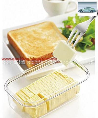 Japan Imported Butter Butter Cut Storing Box Storage Box Refrigerator  Crisper Baking Butter Cheese C