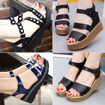 20a7c150f 2019 Summer New High Quality Women Sandals Lady Thick Bottom Sandals Girls  Rome Style Sandals 32