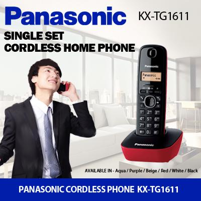 Panasonic Phone Number >> Panasonicpanasonic Cordless Home Phone Kx Tg1611 With Lcd Display Caller Id With 50 Names And Number Log