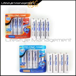 AA 1800mAh/AAA 900mAh Ni-MH Rechargeable Battery Batteries x4