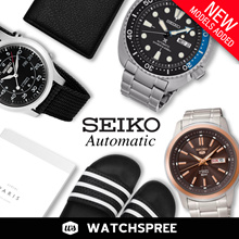 *APPLY 25% OFF COUPON* Seiko Automatic Watches! Seiko 5 Auto Prospex. Free Shipping and Warranty!