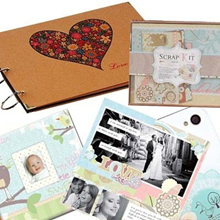 DIY Photo Album/Scrapbook/Stamp/Photobook/Guestbook/Birthday/Gift/Present/Masking Tape/Card/Frame