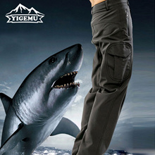 Mens Designer Sweatpants Winter Sharkskin Soft Waterproof Breathable Pants Combat Trousers