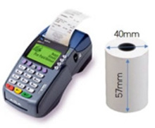 Thermal paper roll for NETS Credit card Receipt 57mm X 40mm. NEXT DAY DELIVERY (Including Weekends!)