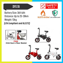 ★UL2272 Certified LTA Approved★100% Authentic★ DYU D1 Seated Electric Scooter ♥Child Seat♥ Basket♥
