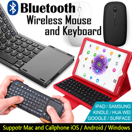 JD Mall Bluetooth Wireless Mouse and Keyboard iOS/Android/Windows mobile Phone Slim Universal