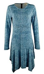 cfac437291a ◇Direct from USA◇ MICHAEL Michael Kors Women s Plus Size Long Sleeve  Printed Drop-Waist Dress