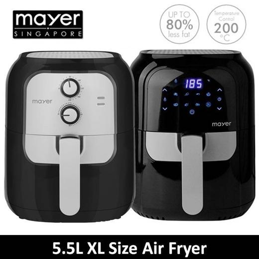 [S$60.00](▼60%)Mayer 5.5L Air Fryer ( MMAF501 ) | 5.5L Digital Air Fryer MMAF501D ( 1 Year Warranty )