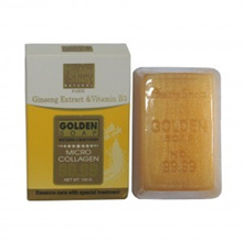 Healthy Shop 232-C Golden Soap Ginseng Extract and Vitamin B3 100G
