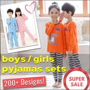 【Group Buy】1yo - 12yo❤Kids Pyjamas❤Sleeping Wear❤Baby❤Boys❤Girls❤Cute Children Pajamas❤Fast Shipping