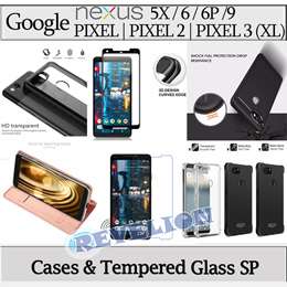 ★NEW★[Stocks in SG] Google Pixel 2 3 XL Case FULL COVERAGE Tempered Glass Screen Protector Nexus