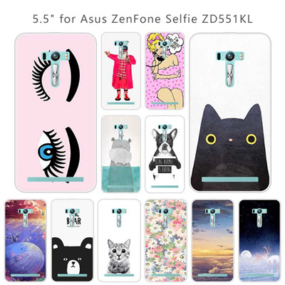 adb4a314508 Silicon Cartoon Case for Asus Zenfone Selfie ZD551KL Phone Shell Soft TPU  5.5 inch for Fundas