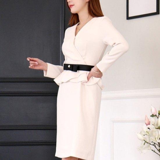 [送料無料]三女子モール三女子モールミン教授フェバリットワンピースTW71OP089/シフォン/レースのワンピース/ 韓国ファッション