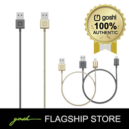 gosh! Lightning Cable in Premium Nylon and Aluminum Housed Connector 1m or 0.13m