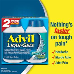 [Adville] Liquigel ibuprofen 200mg 240 tablets