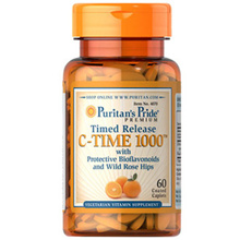 Puritans Pride Vitamin C-1000 mg with Rose Hips Timed Release 1000 mg / 60 Caplets / Item #004070 / Helps Fight Free Radicals / Boost your immune system