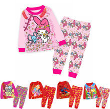 100% Cotton New Long Sleeve Childrens Home Clothing Cartoon Tangsuit New Year 2pcs
