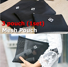 FunnyMade Mesh Pouch 3in1(1set)/ Reve Mesh Pouch 3in1(1set)/ Ideal for organizing small items