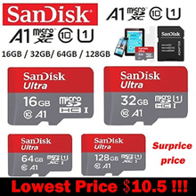 Sandisk Micro SD card Class10 TF card16gb 32gb 64gb 128gb 80Mb/s memory card for samrtphone table PC