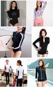High Class Lady Women Swim Top long sleeve swimming pool wear 1712