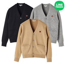 [LINE FRIENDS] BROWN LAMBS WOOL CARDIGAN (3COLOR)
