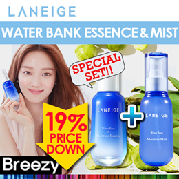 ※15th SPECIAL $26.9★ [Laneige] Water Bank Moisture Essence 70ml + Water Bank Moisture Mist 70ml