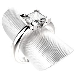 DIAMOND 0.5CARAT CZ RING  AND COLOR  WIDTH 5.5mm Grad AAA//size5mm+1pcs/18KGOLD~PLATINUM DIPPED