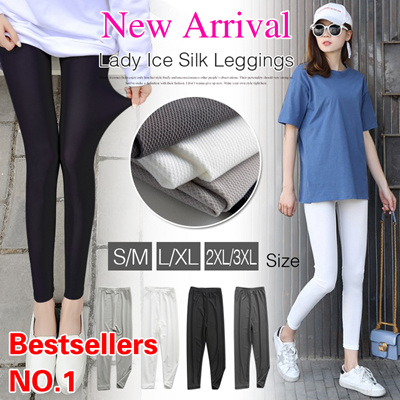 Premium  Local Shipping Buy 3 Free Shipping!Lady Ice Silk  Leggings Breathable.Stretchy Comfy Leggings Pants 330456443