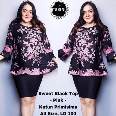 Blouse Sweet Black Pink