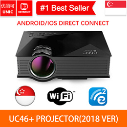 **READY STOCK**[UC46 Projector]2016 Newest UNIC UC46 Wireless WIFI Portable Home Projector Laptop