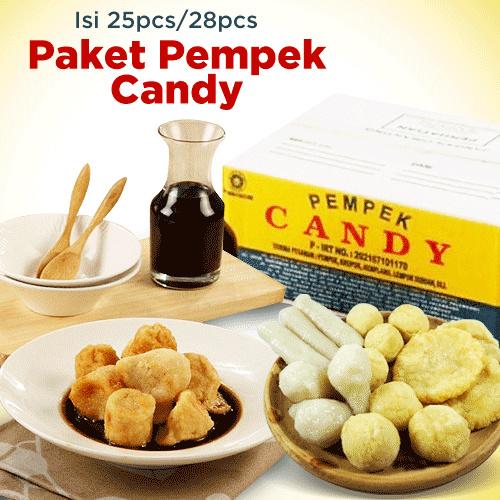 Pempek Candy Isi 25 Pcs - ANEKA Paket A Besar 1 Kg