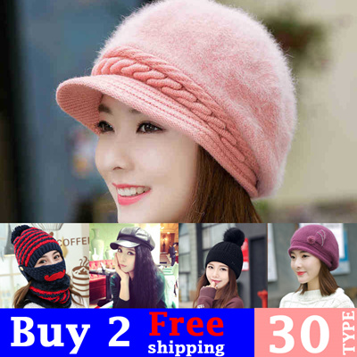 a8deb6f997b COUPON · 2017 Winter Knitted Hats Caps  Warmth   Thick hat women fashion hat  cute