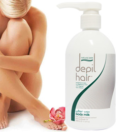 Natural Look Depil Hair Reduction Body Milk 500ml Ingrown Hair Inhibitor Semi-permanent hair removal
