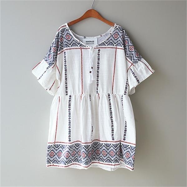 エスニック・デーのチュニックp205 new ミニワンピース/ワンピース/韓国ファッション