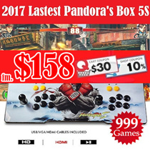 [$158 SUPER SALE] Pandora Box 4S / 5S Arcade Game Console 800 / 999 Games Jamma Plug and Play in TV