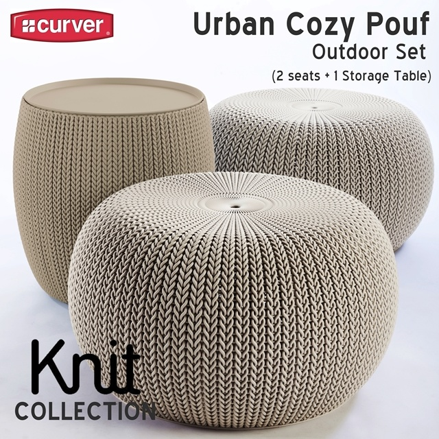 Qoo40 Knit Single Seat Furniture Deco Extraordinary Keter Outdoor Pouf