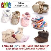 [ORTE] Baby Toddler Girls Boys Prewalkers Shoes Socks★Winter Spring Baby Shoes★Good Quality★