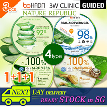 ★Lowest price 3.33~★1+1+1★Next Day Delivery★[3W Clinic] Aloe Vera 92% Soothing Gel 3pc