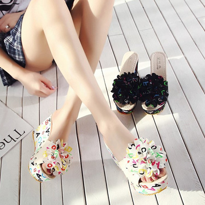 219a8f32d08779 Summer Women Mules Clogs Wedge Slippers Garden Shoes Handmade Artifical Pearl  Shoes Jelly Color